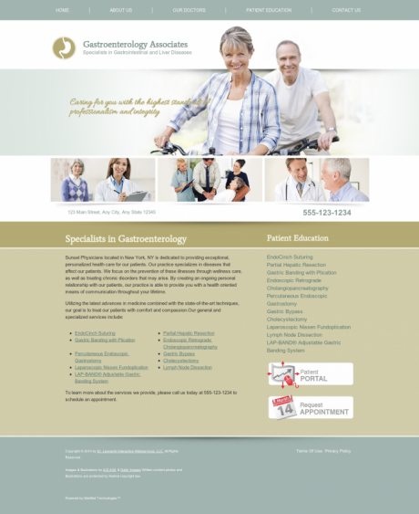 Gastroenterology Website Preview #1