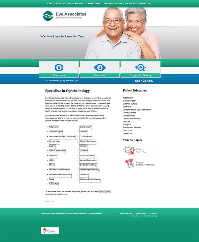 Ophthalmology Website Preview #6