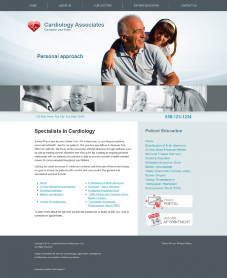 Cardiovascular Website Preview #1