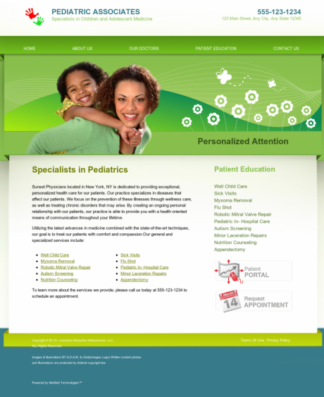 Pediatrics Website Preview #10