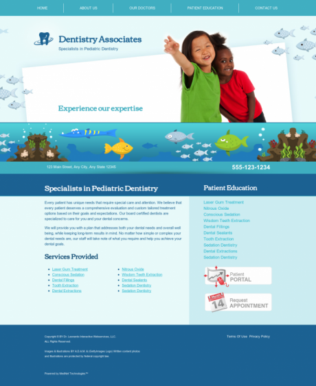 Pediatric Dentistry Website Preview #8