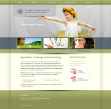 Allergy & Immunology Website Thumbnail #1