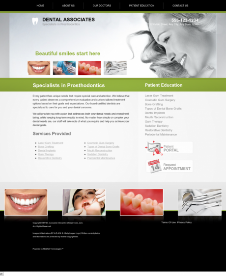 Prosthodontics Website Preview #6