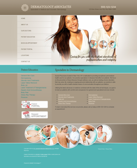 Dermatology Website Preview #6