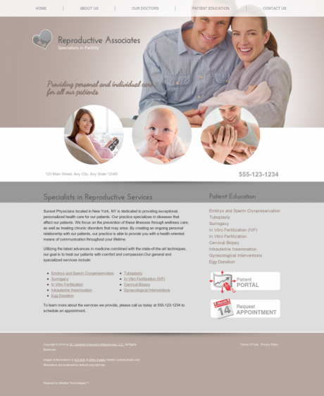 Reproductive Services Website Preview #7