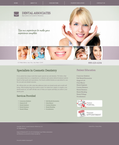 Cosmetic Dentistry Website Preview #7