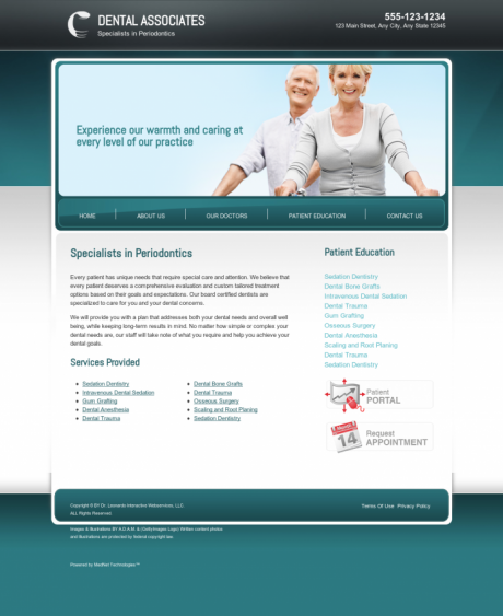 Periodontics Website Preview #7