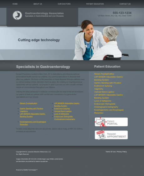 Gastroenterology Website Preview #7