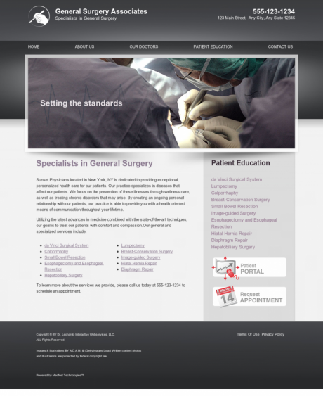 General Surgery Website Preview #12
