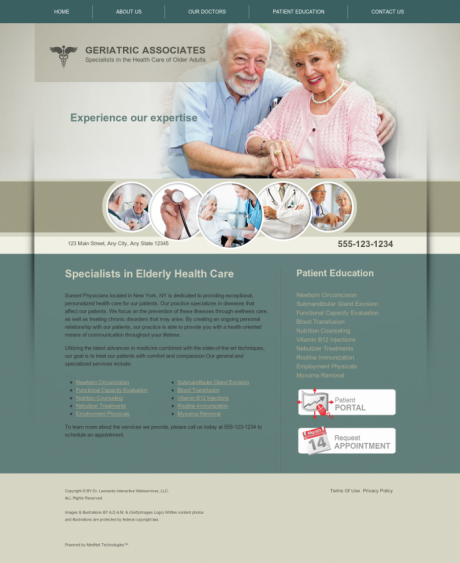 Internal Medicine Website Preview #10