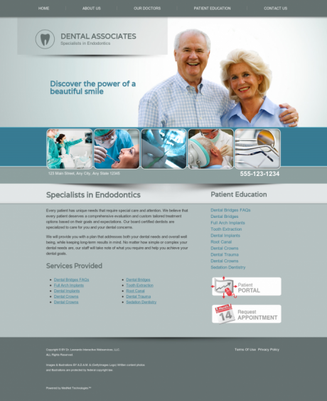 Endodontics Website Preview #8