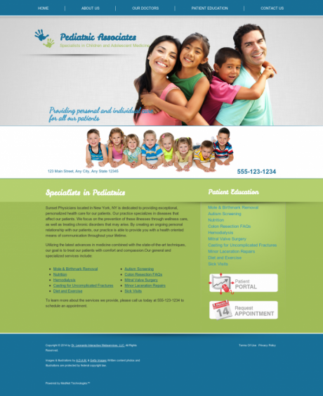 Pediatrics Website Preview #11