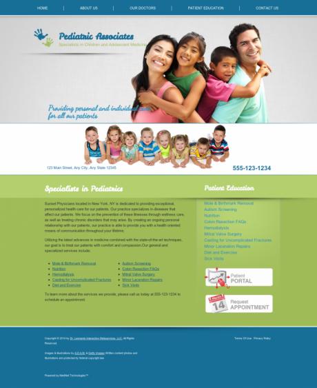 Pediatrics Website Preview #11