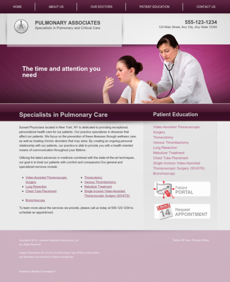 Pulmonary Disease Website Preview #5