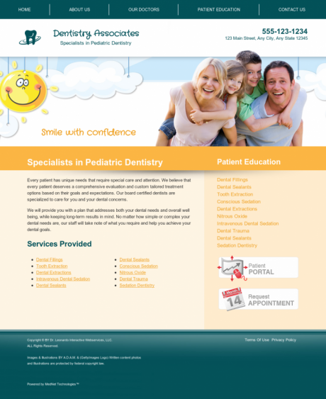 Pediatric Dentistry Website Preview #9