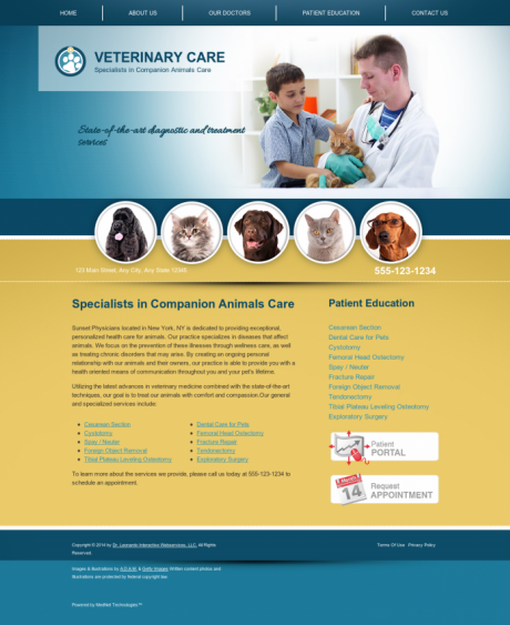Veterinary Website Preview #5