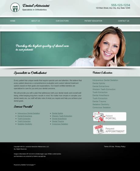 Orthodontics Website Preview #8