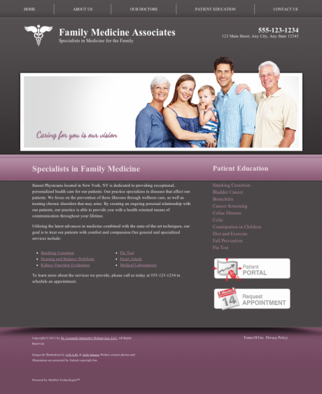 Family Medicine Website Preview #4