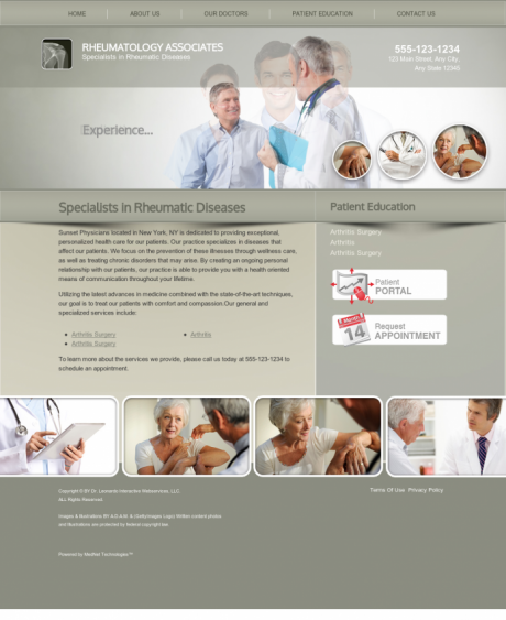 Rheumatology Website Preview #2