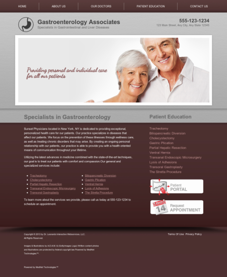 Gastroenterology Website Preview #8
