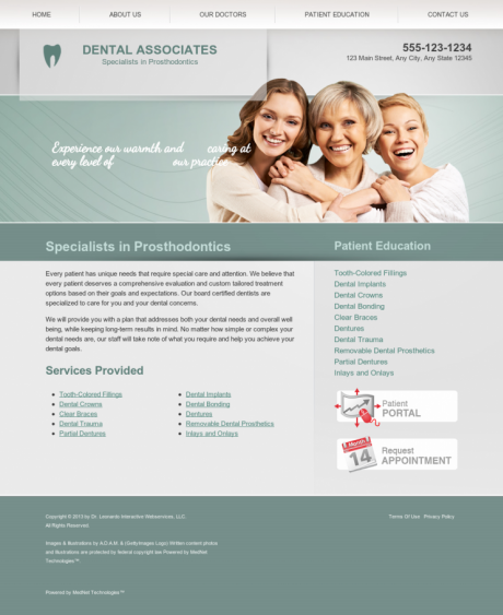 Prosthodontics Website Preview #7
