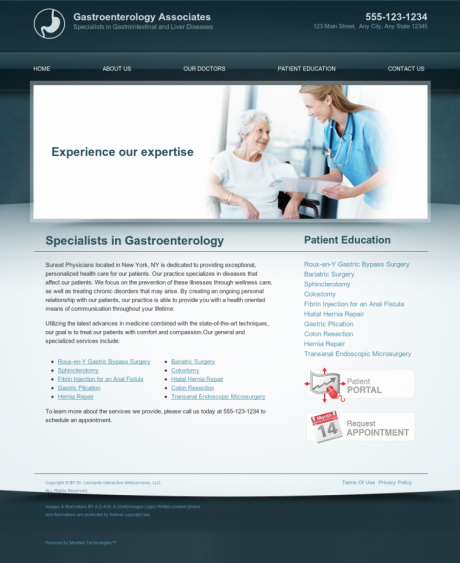 Gastroenterology Website Preview #9