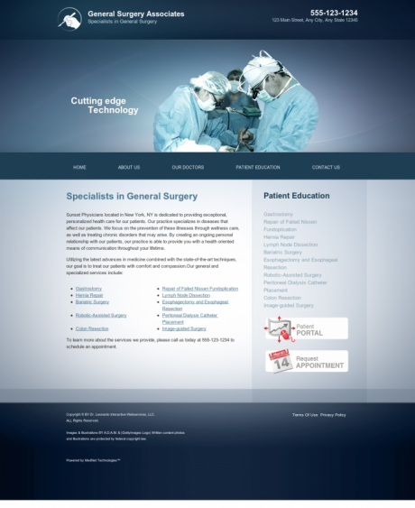General Surgery Website Preview #13