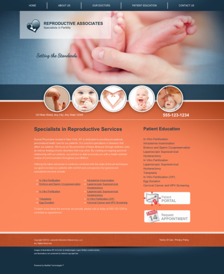 Reproductive Services Website Preview #8