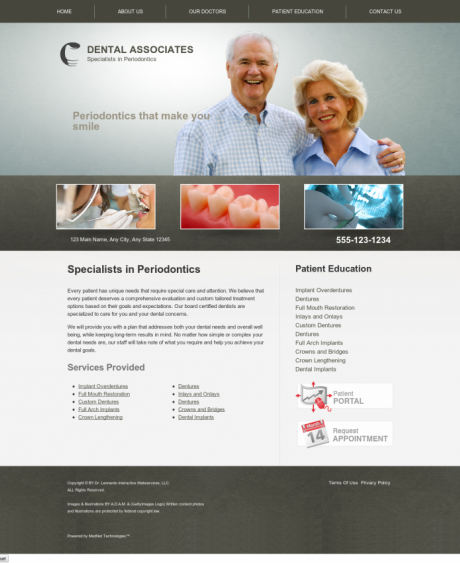 Periodontics Website Preview #9