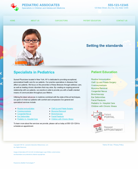 Pediatrics Website Preview #12