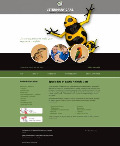 Avian & Exotic Website Preview #5