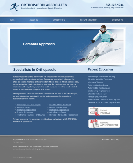 Orthopaedic Website Preview #7