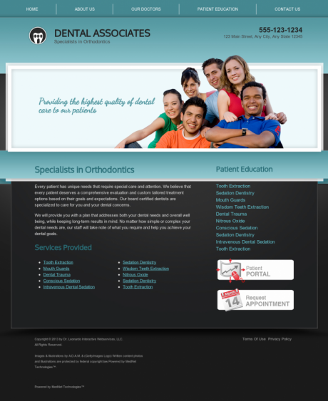 Orthodontics Website Preview #11
