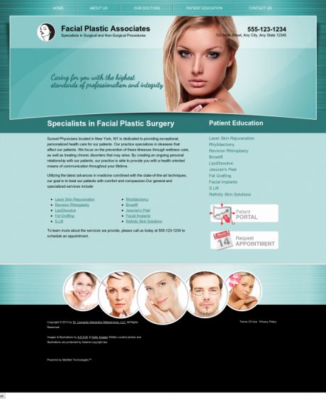 Facial Plastic Surgery Website Preview #7