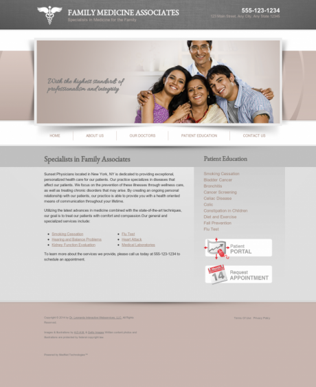 Family Medicine Website Preview #5