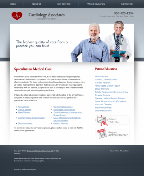 Cardiovascular Website Preview #8