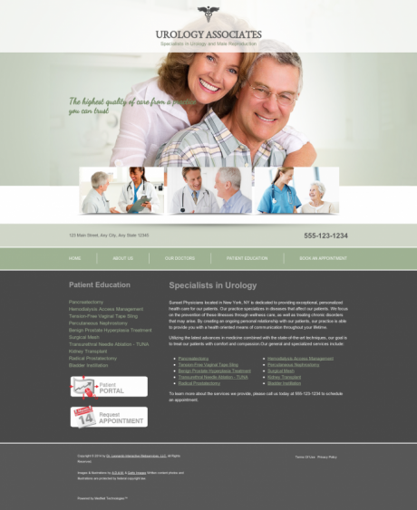 Urology Website Preview #1