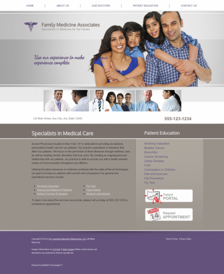 Family Medicine Website Preview #6