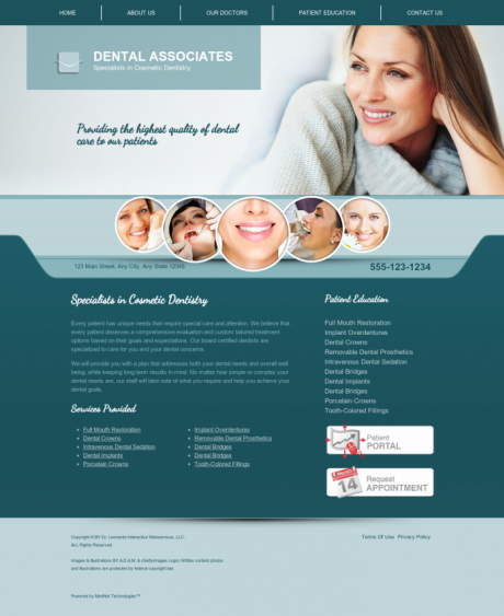 Cosmetic Dentistry Website Preview #9