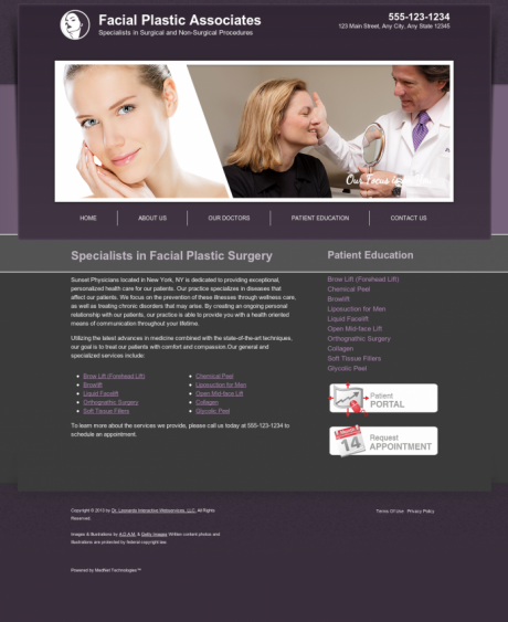 Facial Plastic Surgery Website Preview #8
