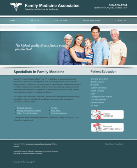 Family Medicine Website Preview #7