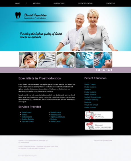 Prosthodontics Website Preview #8