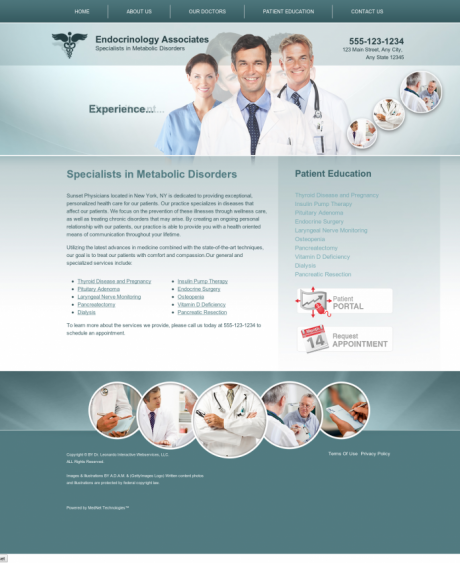 Endocrinology Website Preview #4