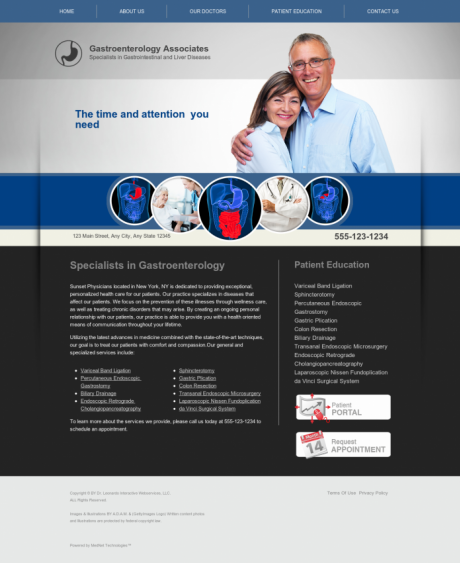 Gastroenterology Website Preview #10