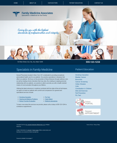 Family Medicine Website Preview #8