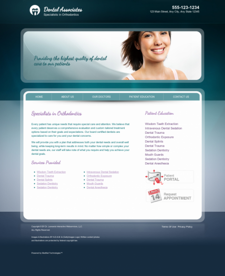 Orthodontics Website Preview #13