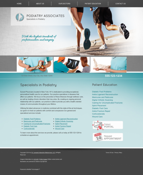 Podiatry Website Preview #3