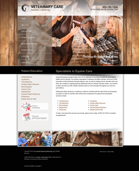 Equine Website Preview #5
