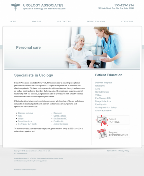 Urology Website Preview #11