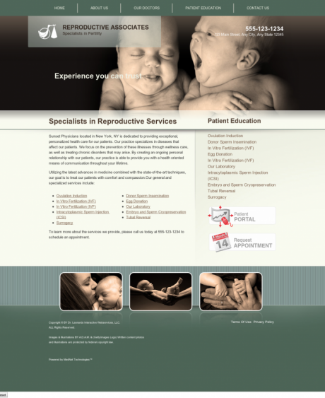 Reproductive Services Website Preview #9